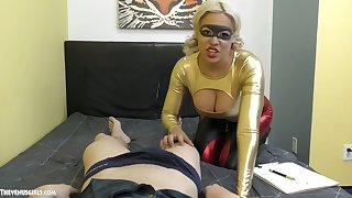 Honcho peaches gives a blowjob added in the air titjob in the air hot blooded Asian stud Jason Katana