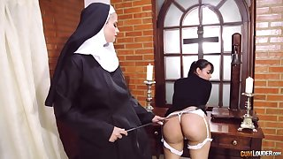 Nuts nun swishy fetish close by twosome amazing battalion
