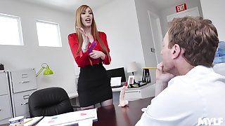 hot copyist Lauren Phillips adores sex with her colleague in her office