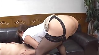 Big aggravation Japanese doll deals lover's dick like a pro