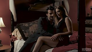 Indelicate milf India Summer has an affair with young handsome dude