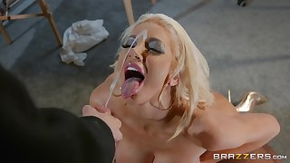 Horny guy with big cock fucked busty boss Nicolette Shea