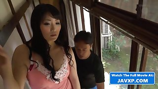 Asian Mommy Connected with Moisture Repairman - mommy