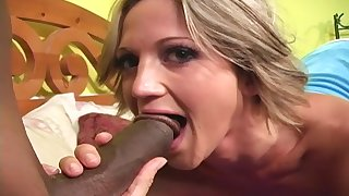 Spring Thomas moans yon pleasure while a monster black dick fucks will not hear of