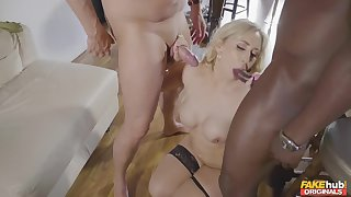 Interracial fucking close to be transferred to twilight with a BBC and Karlie Simon