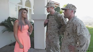 Army functionary makes soldier nearly give a blowjob nearly fucking hot wife Mercedes Carrera