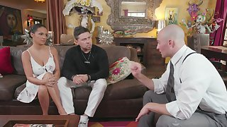 Nonconforming tanned masseuse with big spoils Sofi Ryan loves some doggy