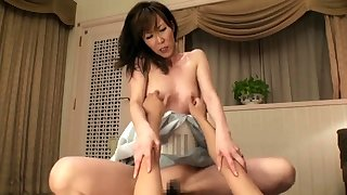 Japanese milf toyed before getting puristic pussy fucked