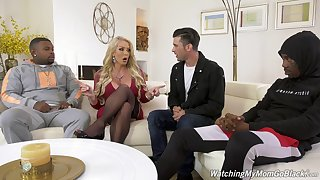 Black dudes with monster dicks double penetrate MILF Alura Jenson